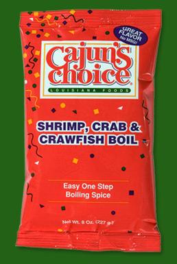 Cajun's Choice- Gluten-Free,Grain-Free Shrimp, Crab & Crawfish Boil