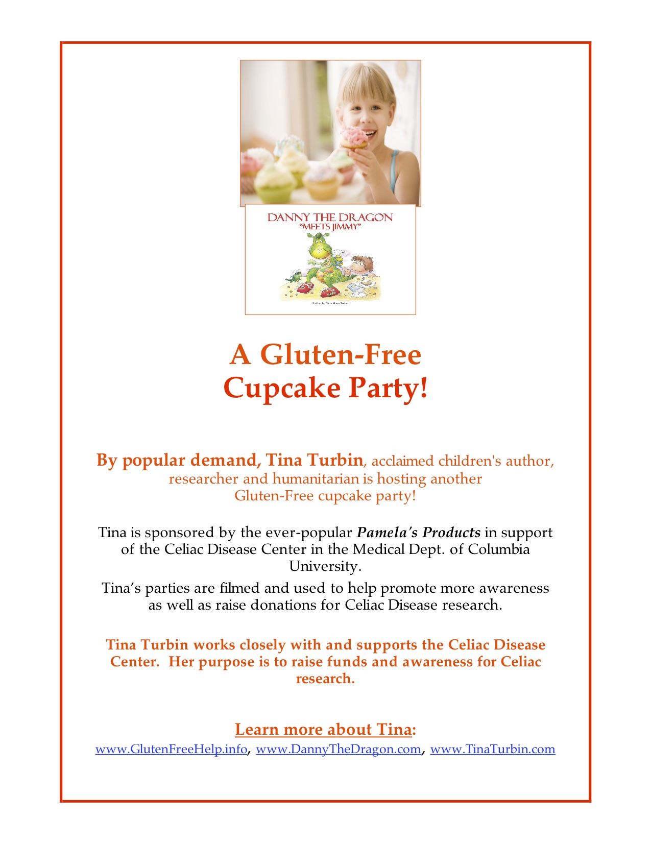 Danny the Dragon Gluten-Free Cupcake Party!