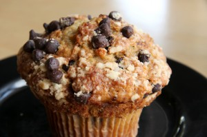 Small Batch Gluten-Free Banana Chocolate Chip Muffins- Recipe