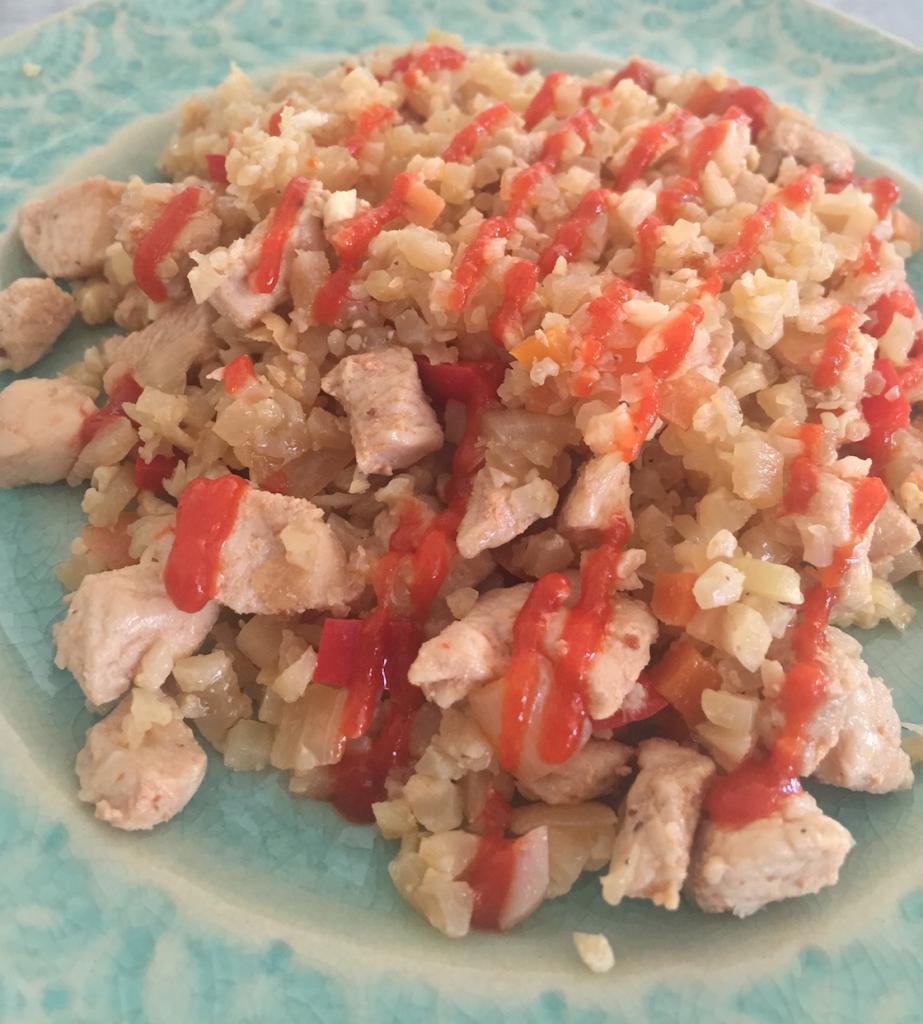 Easy Chicken Cauliflower Fried Rice