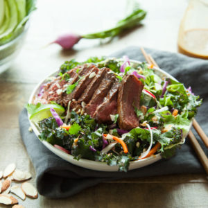 Ginger Marinated Steak Salad with Mandarin Cold-Brew Vinaigrette 1