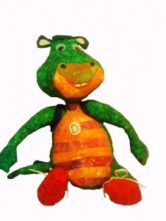 Adorable Stuffed Animal Replica of Danny the Dragon