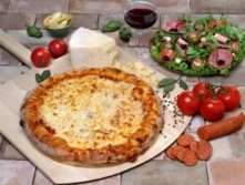Gluten-Free Herb, Salami and Goat Cheese Pizza