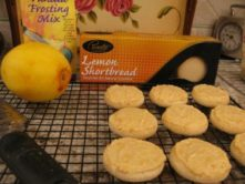 No Cook Orange-Iced Lemon-Shortbread cookies