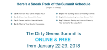DIRTY GENES SUMMIT – FREE and ON LINE!
