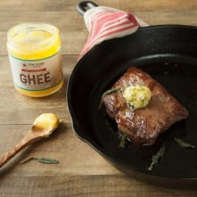 Gluten Free Steak with Sage Browned Ghee